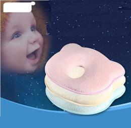 Almohada de almohada de bebé recién nacido Oso recién nacido 0-1 años almohada de algodón anti-cabeza de memoria bebé V 001