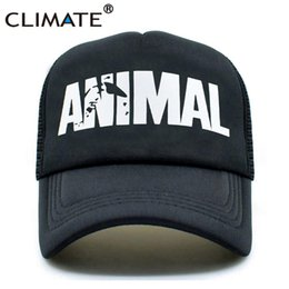 a5be53c1ad2 CLIMATE Men Animal GYM Mesh Trucker Caps Animal Print Fitness Fans Black  Mesh Cap Body building Muscle Sports Caps Hat For Men