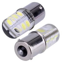 10PCS 1156 COB Led Car Light P21W BA15S 1156 5050 Smd 6 Led Brake Turn Signal Light Bulb Crystal Lamps Led 12V Car Accessories on Sale