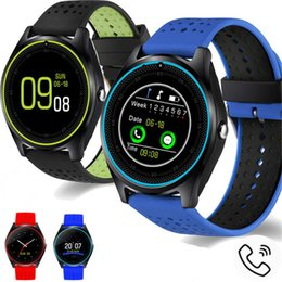v8 smart watch green black 2019 - V9 smartwatch android V8 DZ09 U8 samsung smart watches SIM Intelligent mobile phone watch can record the sleep state Sma