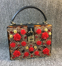 $enCountryForm.capitalKeyWord Canada - Factory direct bag Handmade exquisite carved leopard handbag hardware lock three-dimensional flowers dinner and the wind leopard handbag