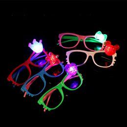 Frames Toys NZ - Cheap LED Glasses Cartoon Flash Light Sunglasses Kids Luminous Eyeglass Frame For Boys Girls Party Toys Gifts Free DHL 739