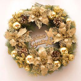 Discount christmas ornament wreath - 10pcs Snowman Christmas Deer Cloth Art Wreath Rattan Reed Wreath Garland Christmas Decoration Ornaments Party Home Decor