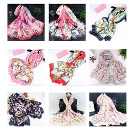 Luxury beach toweLs online shopping - 180 cm Silk Styles Women Designer Scarf Wraps Hijab Bandana Luxury Designer Headband Scarf Table Blanket Beach Towel Home Decor