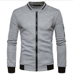 Chinese  Zipper Collar Casual Hoodie Coat Mens Bomber Jacket Designer Sweatshirts Contrast Color Sportswear Fashion Coats Mens Outwear Streetwear manufacturers
