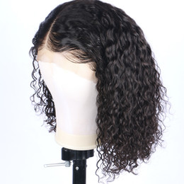 brazilian curly wave short hairstyles 2018 - Fast Shipping Top 150% Density Lace Front Human Hair Wigs Pre Plucked Hairline Curly Brazilian Remy Hair Full Lace Wigs