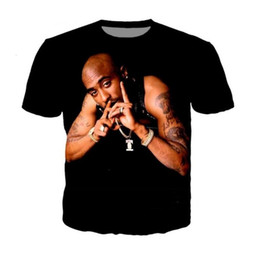 Wholesale tupac shirts for sale - Group buy Newest Fashion Mens Womens Summer Style Tupac pac Rapper Funny D Print Casual T Shirt DX053
