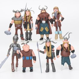 China 8pcs  Set 10 -13cm How To Train Your Dragon 2 Figurines Pvc Action Figures Classic Toys Kids Gift For Boys Girls Children cheap classic toy trains suppliers