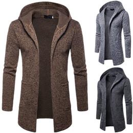 Wholesale women cotton trench coats fashion resale online - Cardigan Men Sweater Hoodies Coat Men Designer Fashion Long Trench Coats Casual Hoodie Seater Cardigan Men Top Clothing Outwear Man Women