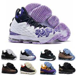 2018 Purple Rain lebron 15 Lakers Bright Scarpe da basket cremisi lebron  15s Griffey Graffiti AZG fa0f8e6f388