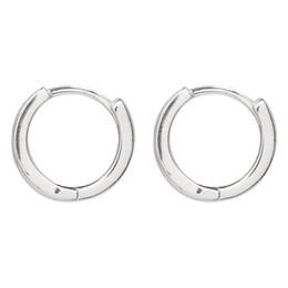 $enCountryForm.capitalKeyWord UK - All Body 925 Sterling Silver Black Earring Earring Simple Neutral Wind Handsome Short Hair Earrings Japanese Korean Fashion