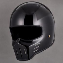 Vintage Motorcycle Helmet Xxl Canada - fiberglass motorcycle vintage retro full face helmet for dirt dirt cross biker safe protective