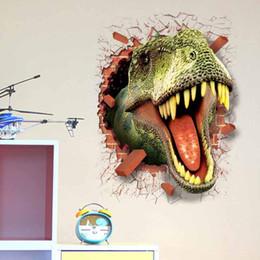 3d Cars Wall Sticker NZ - 50*70cm 3D Car Dinosaur Cartoon Movie Home Decal Wall Sticker for Kids Room Decor Child Boy Birthday Festival Gifts Home Decor
