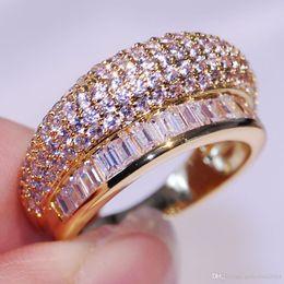 $enCountryForm.capitalKeyWord NZ - Victoria Wieck Pave Setting New Women Fashion Jewelry 10KT Gold Filled Princess White Sapphire Party CZ Diamond Lady' Wedding Band Ring Gift
