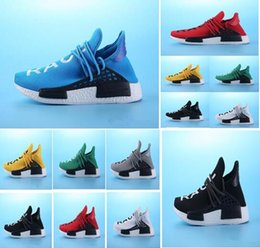 46a8f40955316 New 2018 Human Race Pharrell Williams Hu trail NERD Men Womens Running Shoes  white noble ink core Black Red sports Shoes sneaker