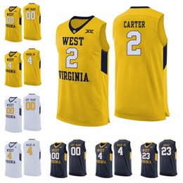 90a109e80 West Virginia Mountaineers 2 Jevon Carter 4 Daxter Miles Jr. 50 Sagaba  Konate 23 Esa Ahmad Custom Any Name Number College Basketball Jersey