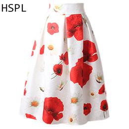 $enCountryForm.capitalKeyWord Canada - HSPL Midi Skirt Retro Womens High-Waist Pleated Jupe A-Line Umbrella Above-Knee Saias Femininas Korea Style jupe jupe femme 2017