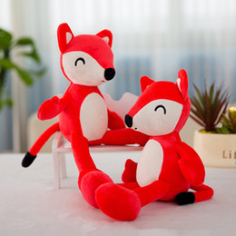 "stuffed animals fox NZ - Cute Fox soft plush dolls education toy 12"" 30cm Adorable stuffed animal Cuddlekins For baby Kids Birthday Xmas Gift"