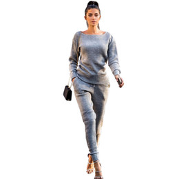 Chinese  Cotton Knitted Tracksuits Women Two Piece Set Top and Pants Casual Solid Sweater Sets Winter Sweat Suits Female Hot manufacturers