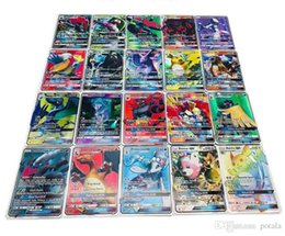 Discount ex games - 120pcs lot Anime Trading Cards 120GX+Trainer Games EX Mega Cards Cartoon English Party Card for Child Adult Poker Fun ca