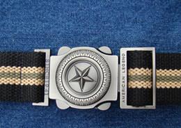 Star Belts Australia - European and American men's canvas belt Korean five-pointed star fashion wild canvas belt outdoor sports tactical