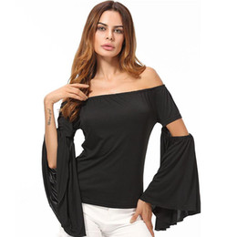 5507599e1fba8 20188 Sexy Off Shoulder Womens Tops Retro Vintage Renaissance Gothic Blouse  femme Women Victorian Long Bell Sleeves Shirts