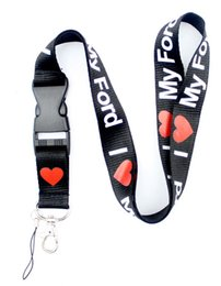 $enCountryForm.capitalKeyWord Australia - 100pcs I Love ford-phone Lanyard - Key Chain ID Ticket Badge Holder Strap