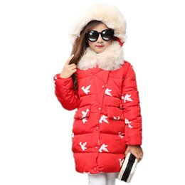 12e79cf73aa Kids Winter Jackets For Girls Cotton Coats 2017 New Thicken Warm Fur Hooded  Winter Parkas Long Snowsuits Children Outerwear