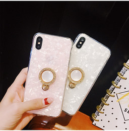 Discount rhinestone rings case - For Iphone X Phone Cases Diamond Rhinestone Finger Ring Bracket Slightly Hard Back Cell Phone Case For Iphone 6 7 8 Plus