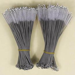 Cepillo de limpieza limpiador de paja de nylon de acero inoxidable para beber PipeTube Taza del biberón Herramientas de limpieza del hogar 175 * 30 * 5mm DHL HH7-1071 en venta