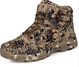 Army Camouflage Shoes Canada - Winter Tactical Men Boots Camouflage Warm Cotton Army Shoes Trainer Footwear Mens Military Boots Size 36-46 Unisex