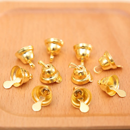 $enCountryForm.capitalKeyWord NZ - 100PCS 11MM Jingle Bells Iron Loose Beads Small For Festival Party Decoration Christmas Tree Decorations DIY Crafts Accessories