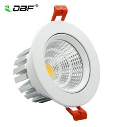 15w led downlight cob epistar UK - [DBF]Angle Adjustable Epistar LED COB Recessed Downlight Not-Dimmable 6W 9W 12W 15W LED Spot Lamp Ceiling Lamp Light AC110V 220V
