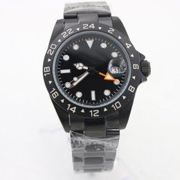 WindoWs dates online shopping - 2018 Hot seller Top Brand MM High Quality Full Black Mens Watches Automat Mechanical Watch Wristwatch With Enlarged Calendar Window