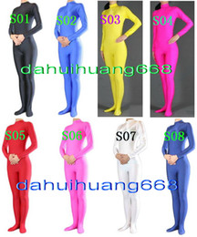 Catsuit Zentai Lycra Spandex Costumes Australia - Sexy 23 Color Lycra Spandex Suit Catsuit Costumes Unisex Bodysuit Costumes Unisex Sexy Body Suit Costumes No Head Hand Foot DH108