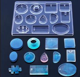 12 силиконовые формы ожерелье кулон смолы ювелирные изделия делая плесень DIY ручной ремесло смолы формы для ювелирных изделий