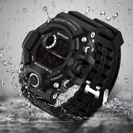Discount g shock digital watches - 2017 Military Electronic Wrist Watch Sport Top Brand Sanda Digital Wristwatches Men G Style Shock Watch Waterproof Shock