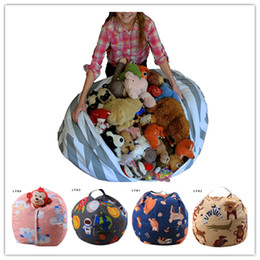 bean stuff toy UK - 43 color 16inch Kids Storage Bean Bags Plush Toys Beanbag Chair Bedroom Stuffed Animal Room Mats Portable Clothes Storage Bag MPB04