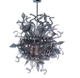 $enCountryForm.capitalKeyWord NZ - Smoky Gray Blown Glass Art Chandelier Modern Home Designed Handmade Murano Glass CE UL Certificate LED Chihuly Style Glass Chandelier