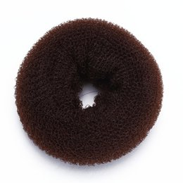 bun rings wholesale NZ - Sponge Magic Donut Bun Former Ring Hair Styling Tool Brown Chic