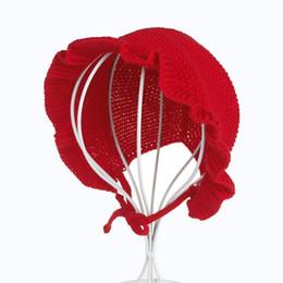 NewborN boy kNit hats online shopping - Newborn Baby Girls Flouncing Hat Princess Caps Knitted Hat Photography Props Infant Toddler Flower Bucket Cap Hat