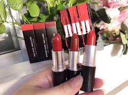 $enCountryForm.capitalKeyWord Australia - Makeup Lipstick Travel Exclusive Lipstick 3pcs Set Chili  Ruby Woo  Lady Danger Retro Matte Lipstick Natural Long-lasting