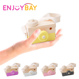 $enCountryForm.capitalKeyWord NZ - Enjoybay Kids Wood Camera Toys Cute Clothing Accessory with Strap Safe Natural Wood Toy Educational Birthday Gifts for Children