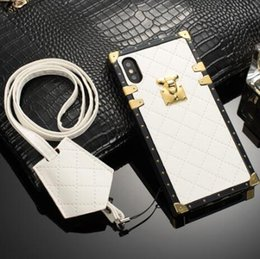 $enCountryForm.capitalKeyWord NZ - Luxury Paris Party Show Crocodile PU leather TPU Phone Case cover for iphone XR XS MAX X 8 Plus with Lanyard