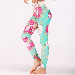 Rosa Mesh Frau Yoga Hosen Fitness Sport Leggings Laufhose Stretch Hose Übung Training Gym Kleidung Dropship im Angebot
