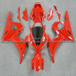 yamaha r6s fairings NZ - 23colors+5Gifts for yamaha R6S 2006 2007 2008 2009 all pure RED Fairing Plastic R6 2003 2005 R6S 06-09 Body Kit motorcycle panels