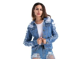 61db4af147006 Fashion Lapel Neck Coats Spring Autumn Vintage Denim Jeans Jackets 2018 Women s  Jeans Coat Ladies Jean Tops For Girls Plus Size Outwear