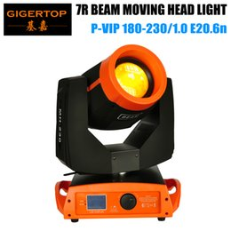 moving head case Australia - 7R 230W Moving Head Light Os-ram Original Lamp Good Quality Colorful Orange Housing Roller Screen Wooden Case Pack