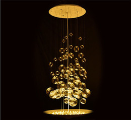 $enCountryForm.capitalKeyWord NZ - Modern Glass Bubble Balls Suspension Pendant Lamp Clear Light Fixtures for Living Room Dinning Room Bedroom 55cm Home Lighting B048