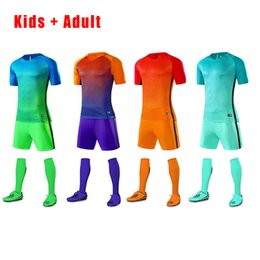 $enCountryForm.capitalKeyWord Canada - Family matching Sportswear Set Father Son Football Kits Soccer Jersey 2017 Kids Futbol Training Suits Short Sleeved Jerseys Men